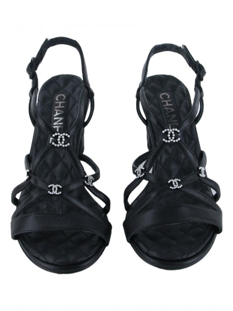 Sapato Chanel Interlocking CC Logo Preto