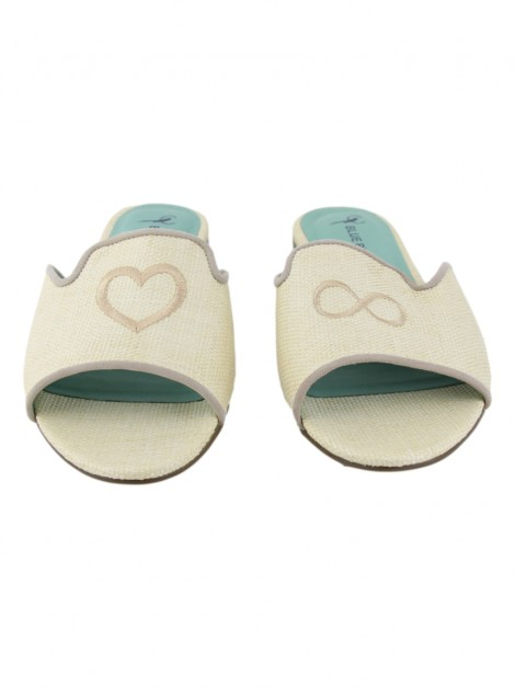 Slide Blue Bird Amor Infinito Palha