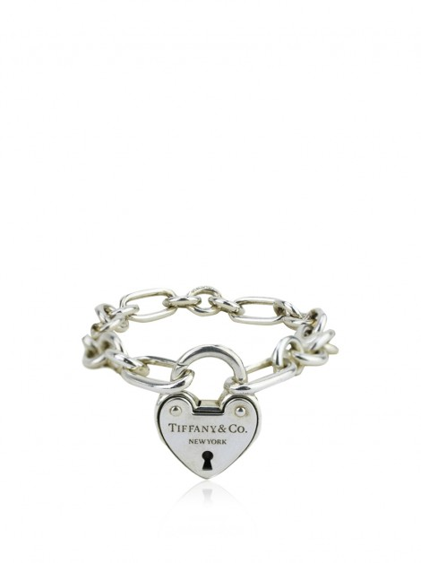 Pulseira Tiffany & Co Lock Heart Prateado