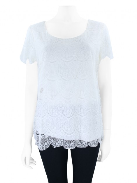 Blusa Banana Republic Renda Off White