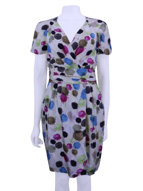 Vestido Moschino Cheap And Chic Paint Spots Seda