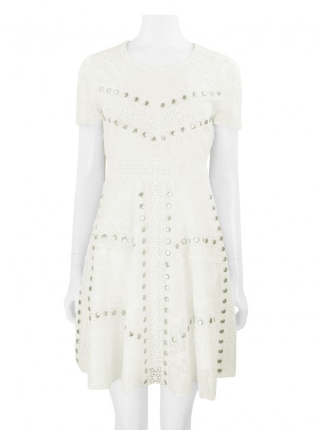 Vestido Maje Renda Off White