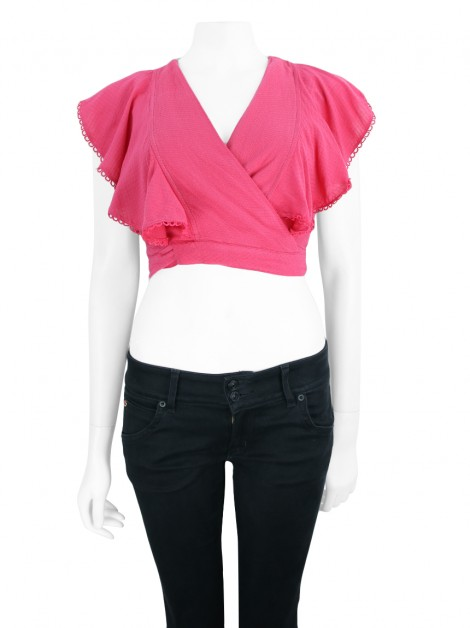 Cropped ByNV Renda Rosa Pink