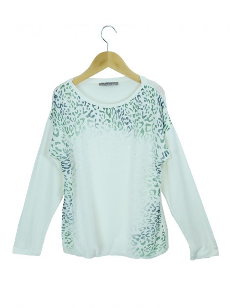 Blusa Ermanno Scervino Junior Tecido Animal Print Infantil