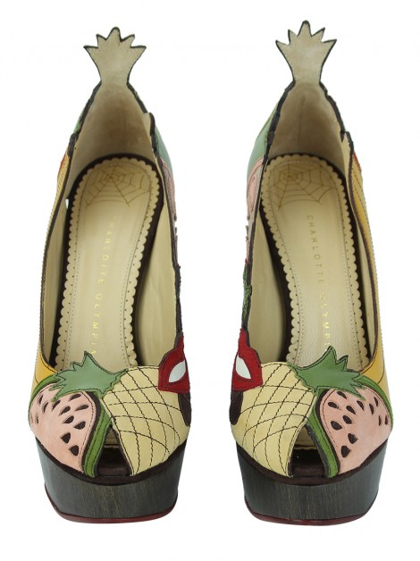 Sapato Charlotte Olympia Fruit Salad Colorida
