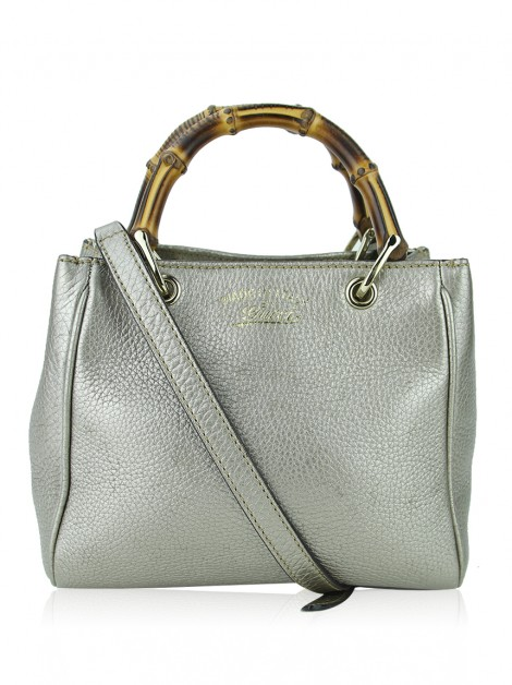 Bolsa Gucci Bamboo Shopper Mini Champagne
