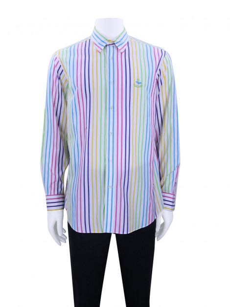 Camisa Façonnable Listras Coloridas Masculina