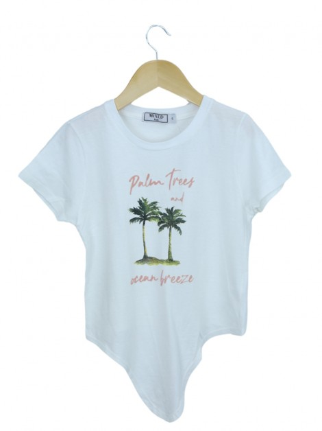 Blusa Mixed Kids Palm Trees Branca