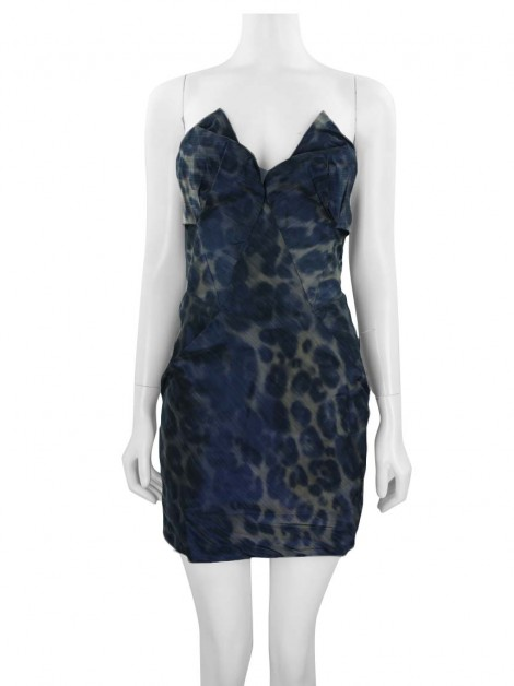 Vestido All Saints Spitalfields Animal Print TQC