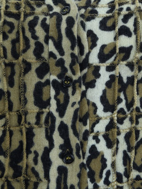 Casaco Jean Colonna Animal Print