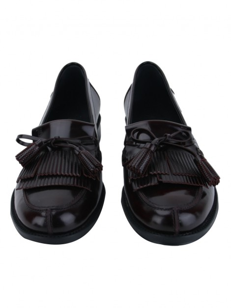Sapato Tod''s Fringed Loafer Burgundy