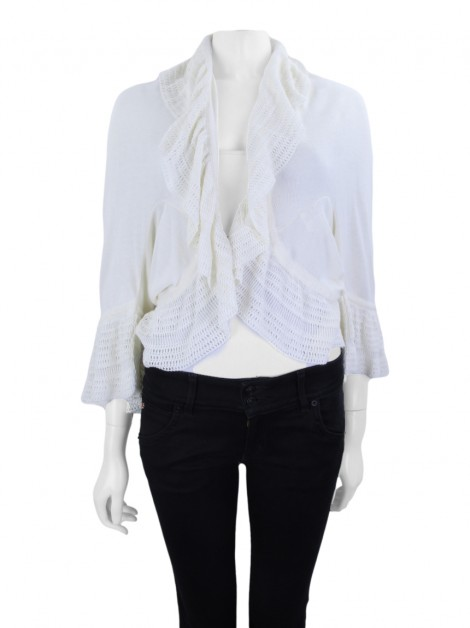 Casaco Mixed Tricot Off-White