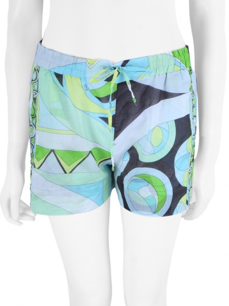 Shorts Emilio Pucci Tecido Estampado Multicolor