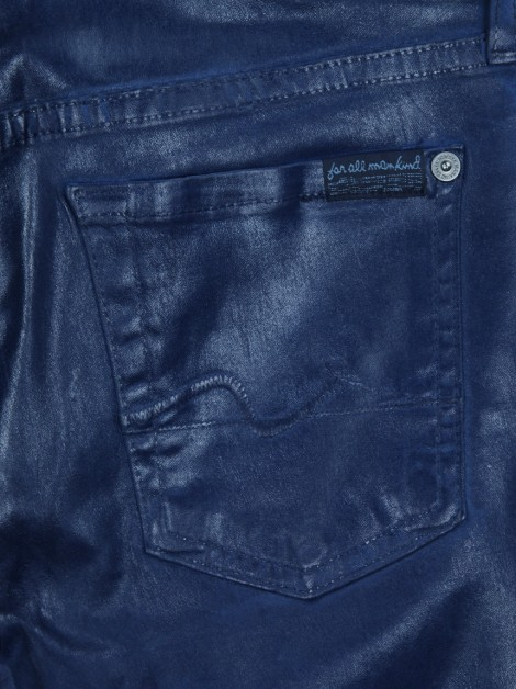 Calça Seven For All Mankind Jeans Metálico Azul