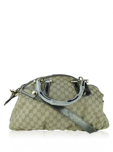 Bolsa Gucci GG Canvas Bamboo Pop Top Handle