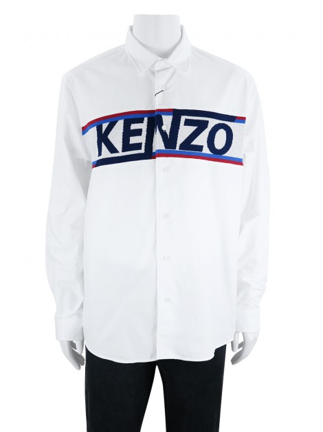 Camisa Kenzo Knitted Casual Fit Branca