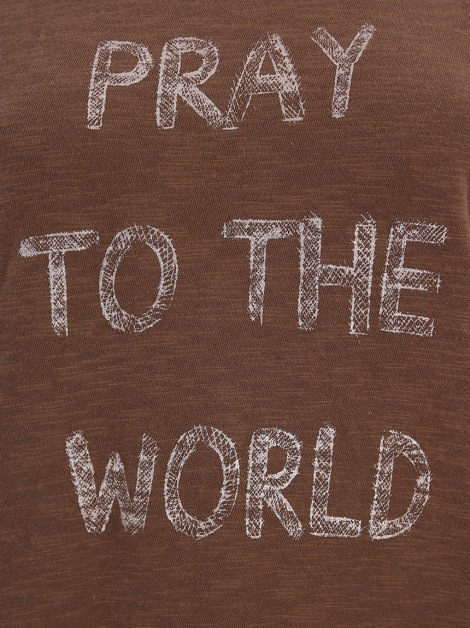 Blusa Mixed Pray To The World Caramelo