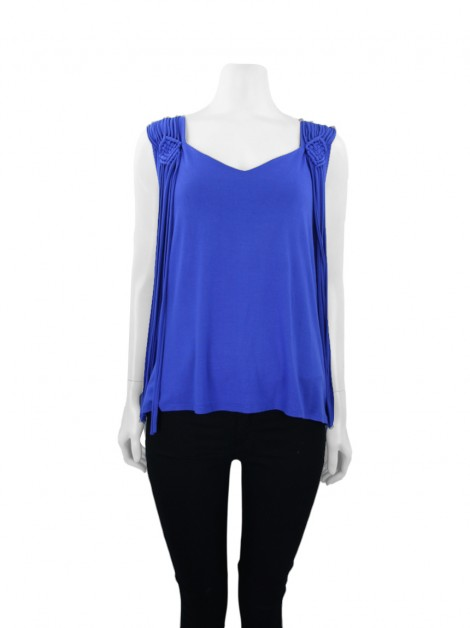 Blusa Spezzato Arabesque Azul Royal