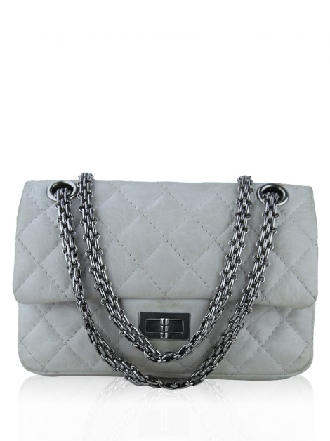 Bolsa Chanel 2.55 Reissue New Mini Off-White