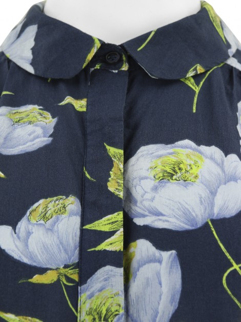 Vestido French Connection Floral Azul