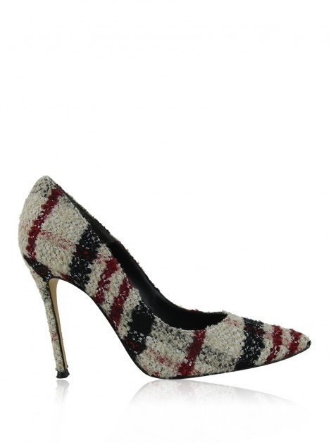 Sapato Carolina Herrera Tweed Tricolor