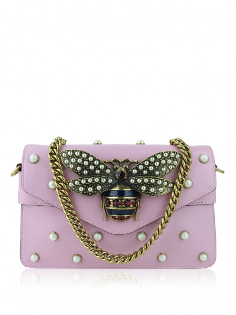 Bolsa Gucci Broadway Bee Mini Rosa