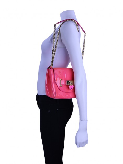 Bolsa Moschino Cheap and Chic Rosa Neon