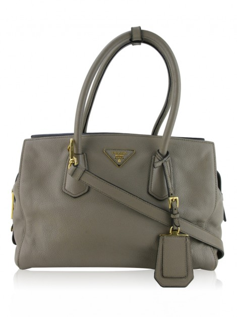 Bolsa Prada Two-Way Tote Etoupe