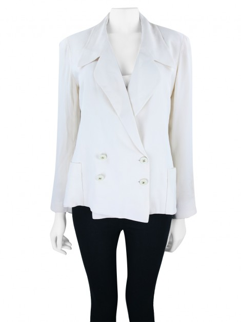 Blazer Chanel Off- White Vintage