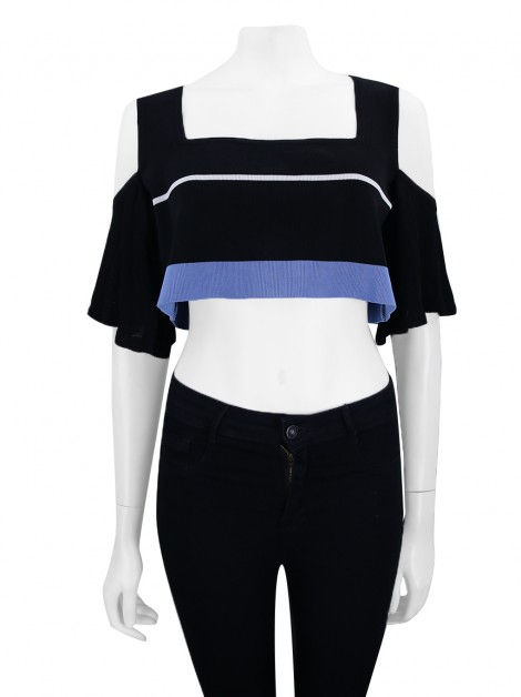Blusa Animale Cropped Listras