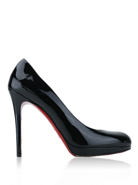 Sapato Christian Louboutin New Simple Pump 120 Verniz Preto