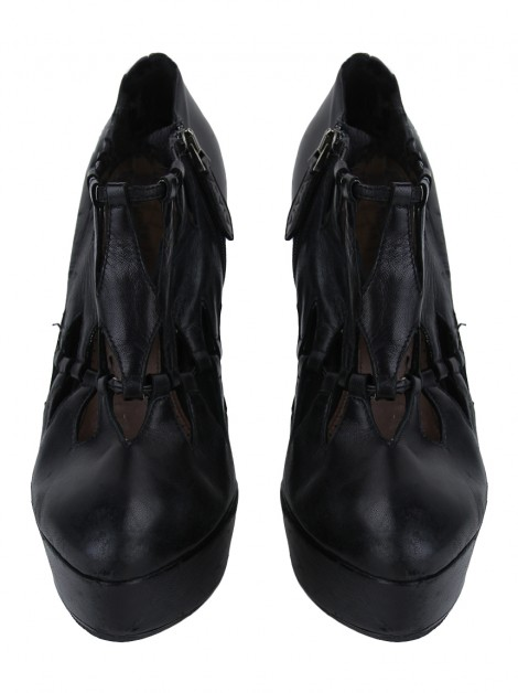 Ankle Boot Alaia Cut-Out Preto