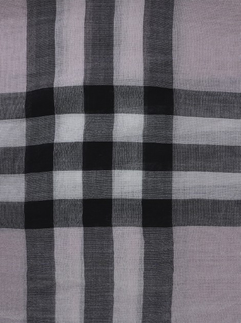 Lenço Burberry Estampa Giant Check Rosa