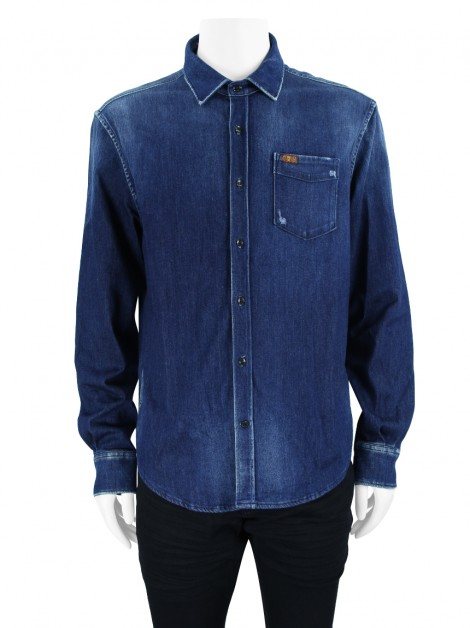 Camisa Seven For All Mankind Clean Shirt Broadway Dark