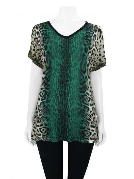 Blusa Le Lis Blanc Animal Print Degradê