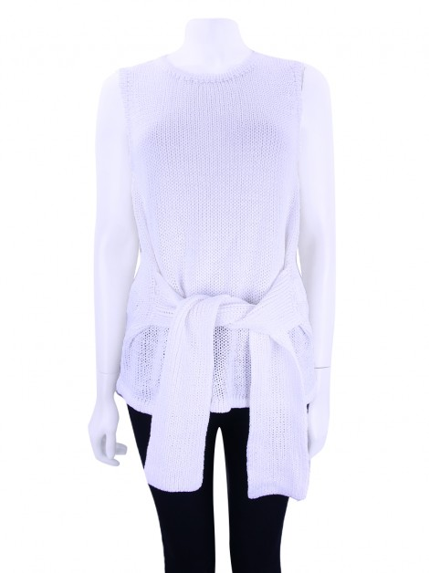 Blusa Carolina Herrera Tricot Off-White