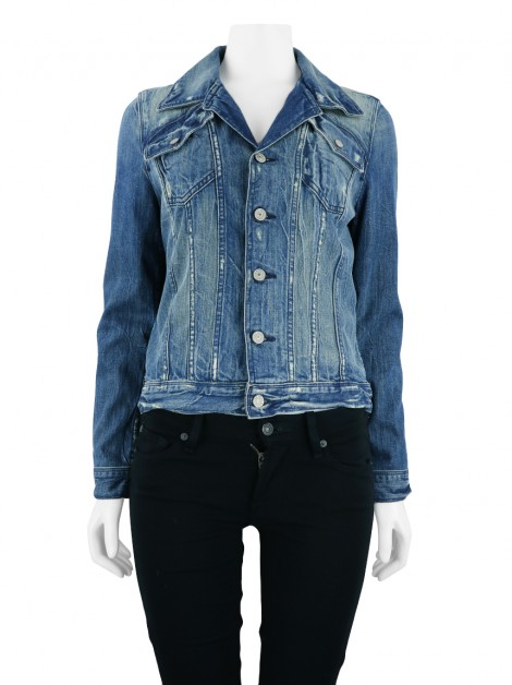 Jaqueta Seven For All Mankind Destroyed Jeans