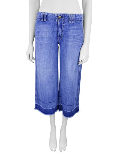 Calça Current Elliott Jeans Pantacourt Azul