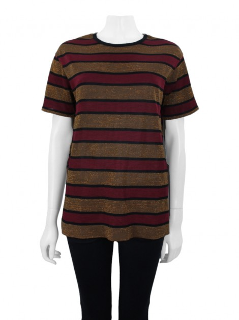 Blusa Animale Tricot Over Listra Lurex