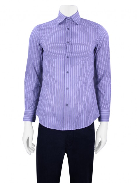 Camisa Gucci Fittted Listrada Masculina