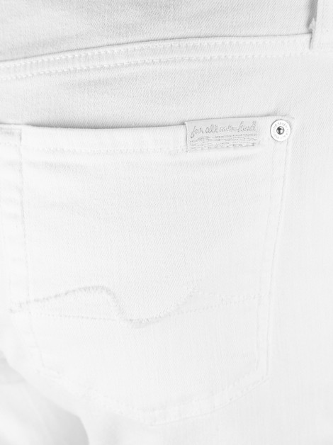 Calça Seven For All Mankind Kimmie Crop Branca