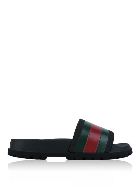 Slide Gucci Web Borracha