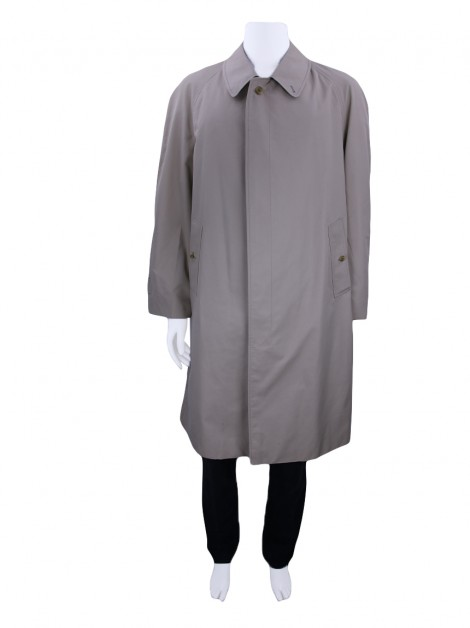 Trench Coat Burberrys' Masculino Bege Claro