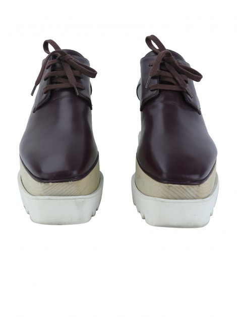 Oxford Stella McCartney Elyse Plataforma Vinho