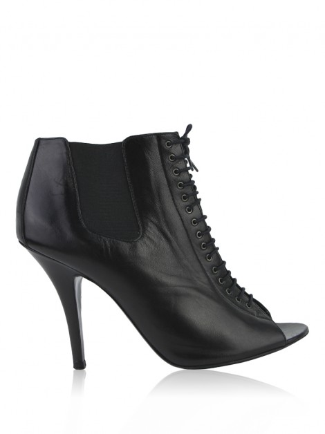 Ankle Boot Givenchy Peep Toe Preto