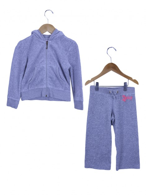 Conjunto Juicy Couture Plush Cinza Toddler