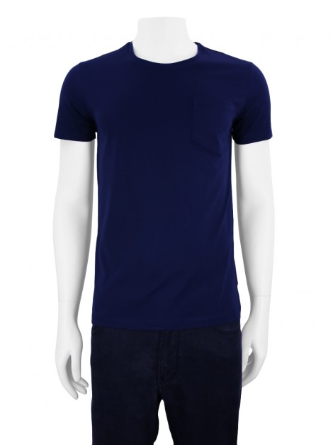 Camiseta CH Carolina Herrera Pocket Azul Marinho