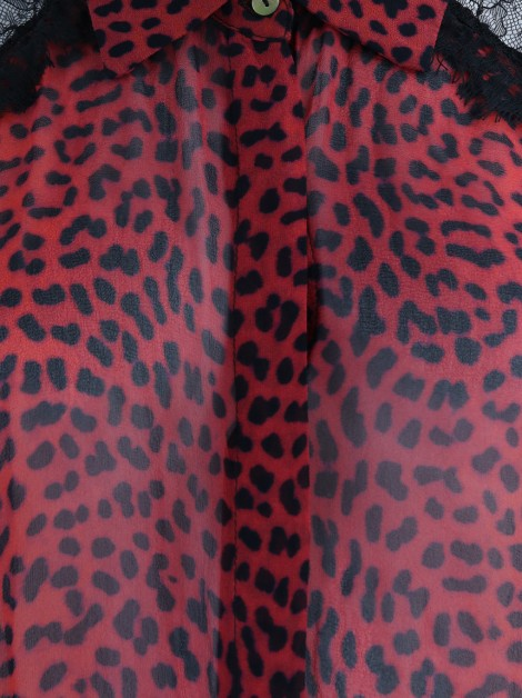 Camisa Animale Transparente Animal Print