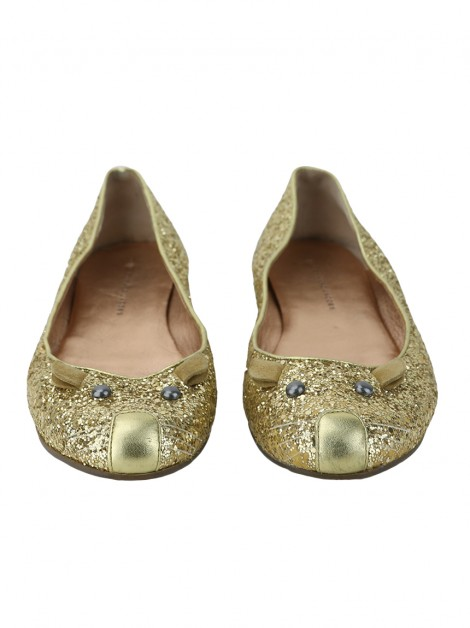 Sapatilha By Marc Jacobs Glitter Mouse Dourada
