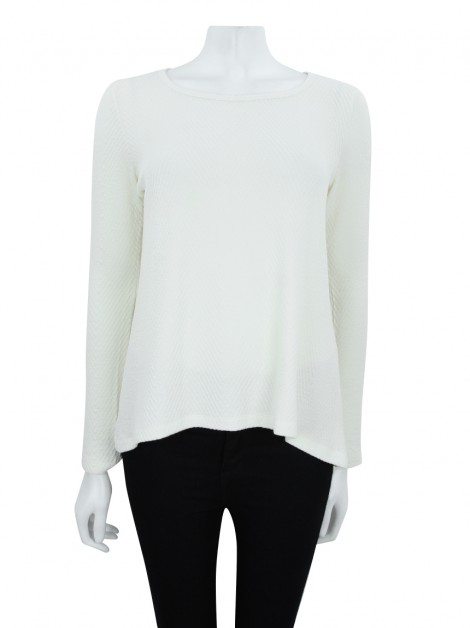 Blusa Missinclof Texturizado Off White